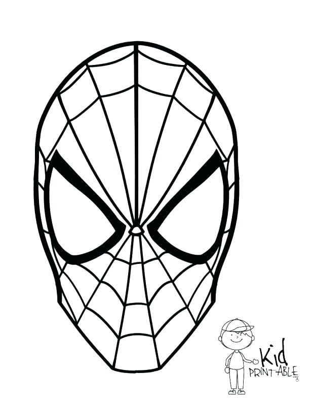 618x800 Printable Spiderman Mask Printable Mask Coloring Pages Print