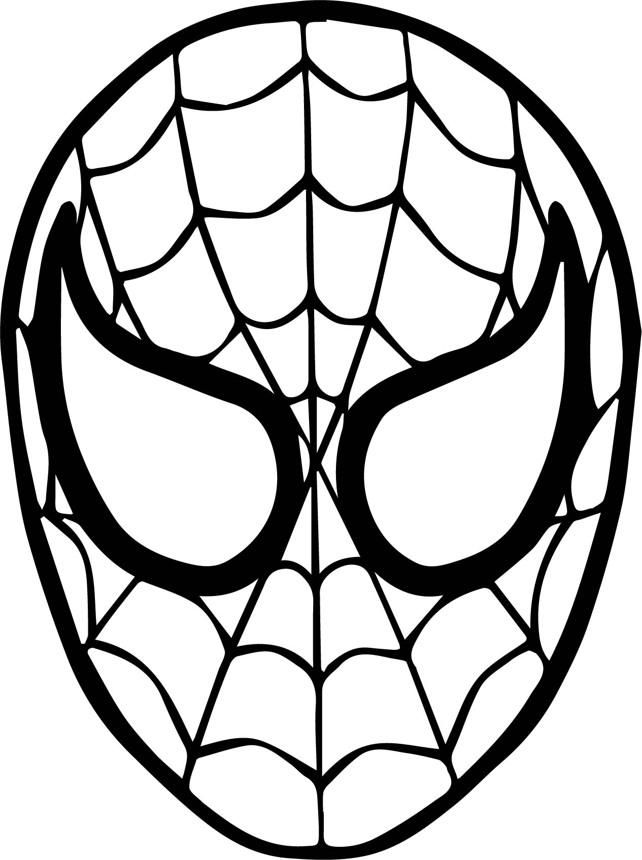 1265x1694 Spiderman Drawing Mask For Free Download