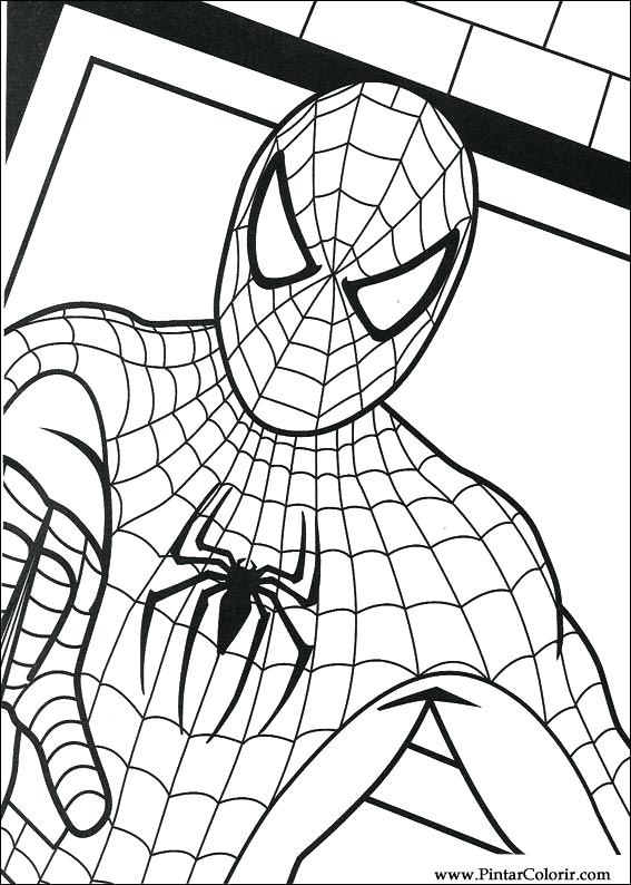 567x794 Spider Man Paint A Very Cool Mask