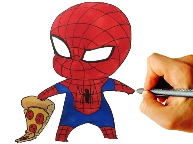 640x480 Spiderman Drawing Easy Spiderman Easy Drawing Images