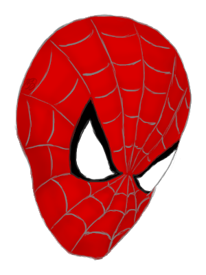 300x400 Spiderman Face Transparent Png Clipart Free Download