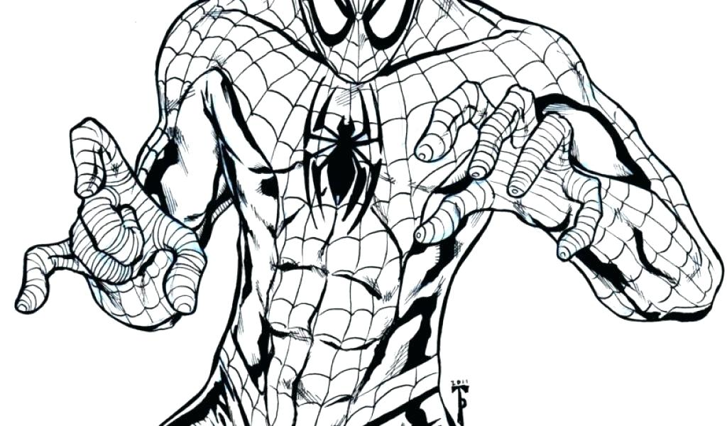1024x600 Spiderman Mask Coloring