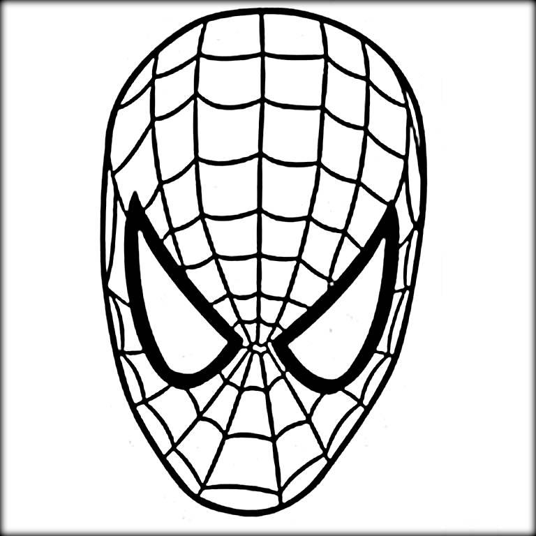 768x768 Spiderman Mask Drawing