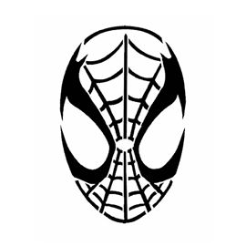 270x270 spiderman mask stencil craft ideas spiderman tattoo, spiderman