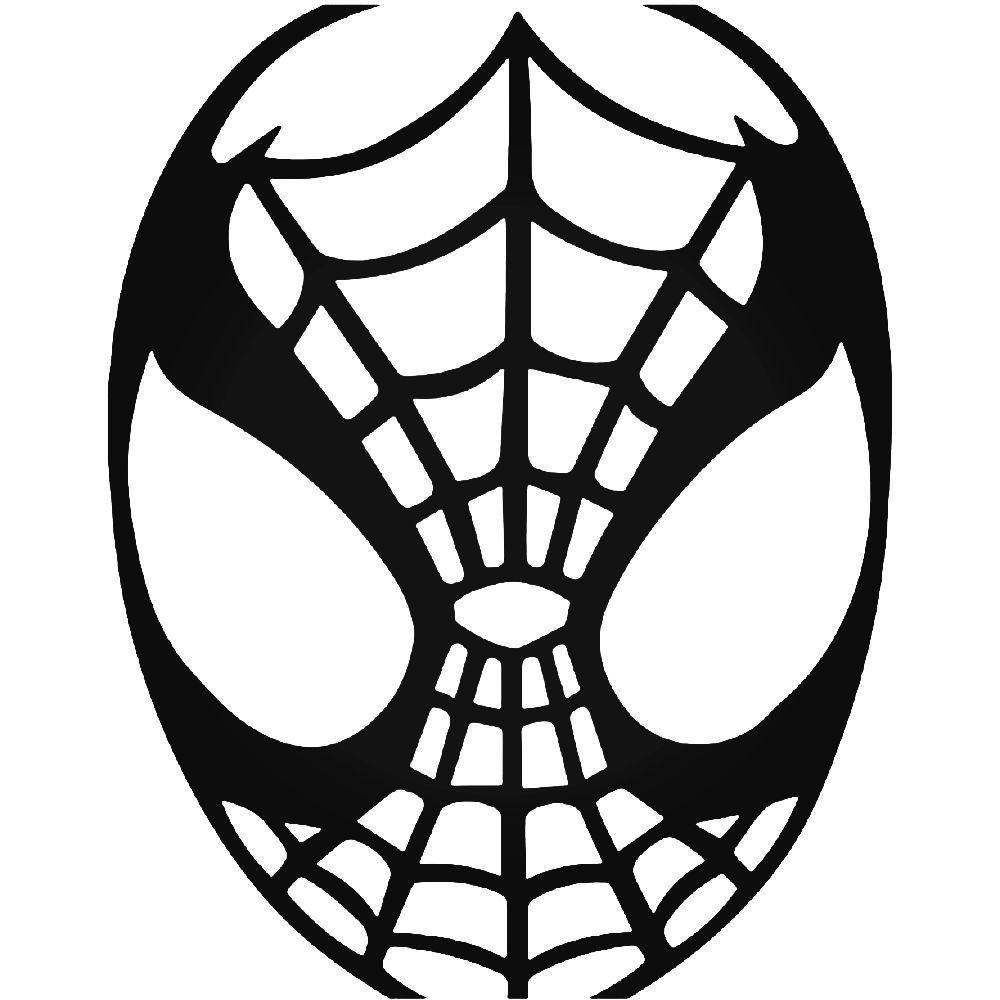 1000x1000 Spiderman Mask Vinyl Decal Sticker
