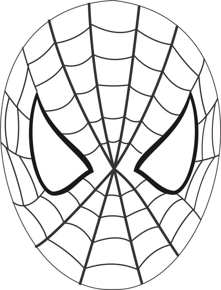 860x1128 Spiderman Mask Printable Coloring