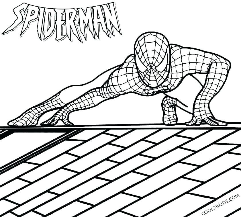 841x757 Spiderman Mask Coloring Pages