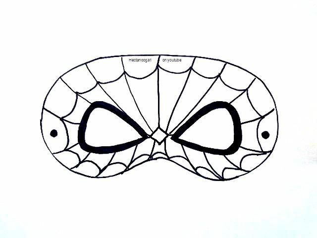 640x480 Free Printable, Spiderman Mask Template Art Lessons And Crafts