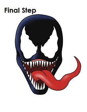 300x388 How To Draw Venom Final Step Kids Crafts In How To Draw