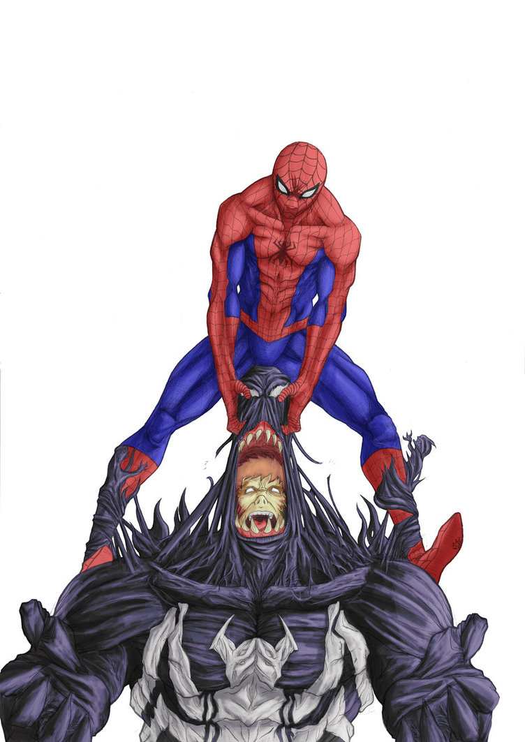 752x1063 Venom Vs Spiderman Fan Art