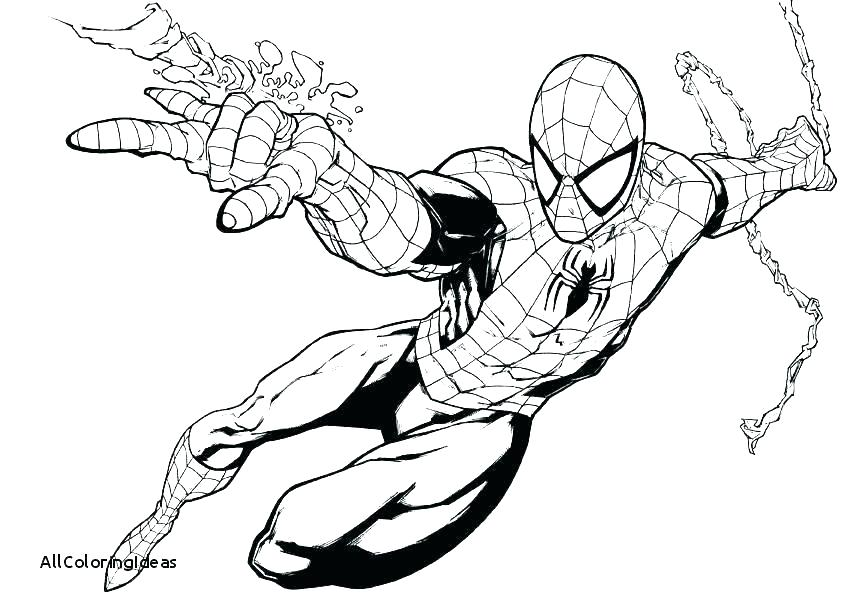 841x613 Spiderman Coloring