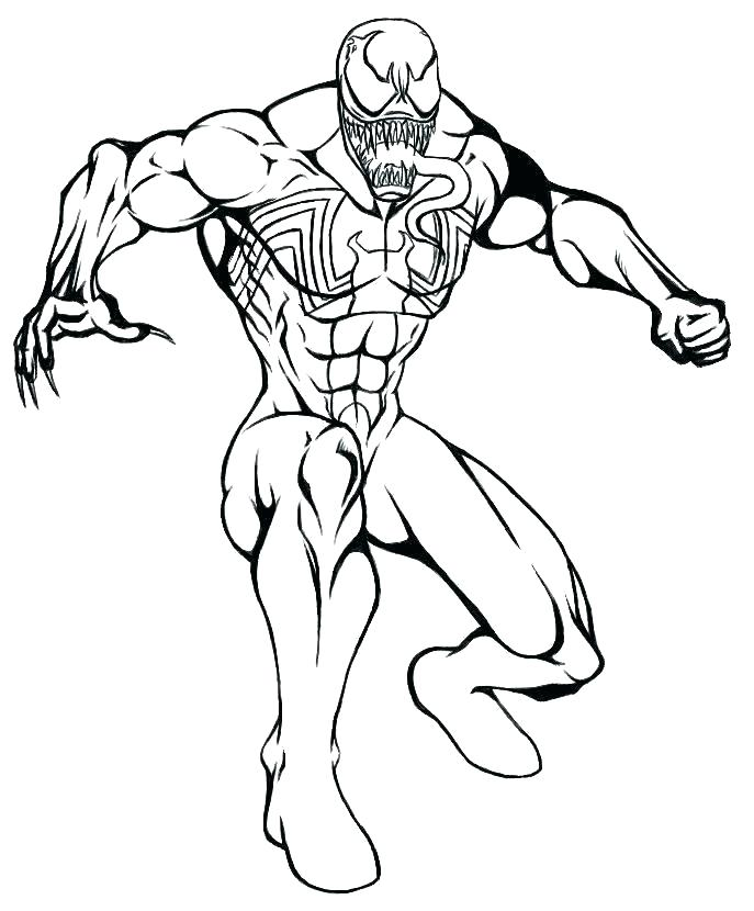 687x830 Spiderman Coloring Pages Coloring Pages Venom Spiderman Venom
