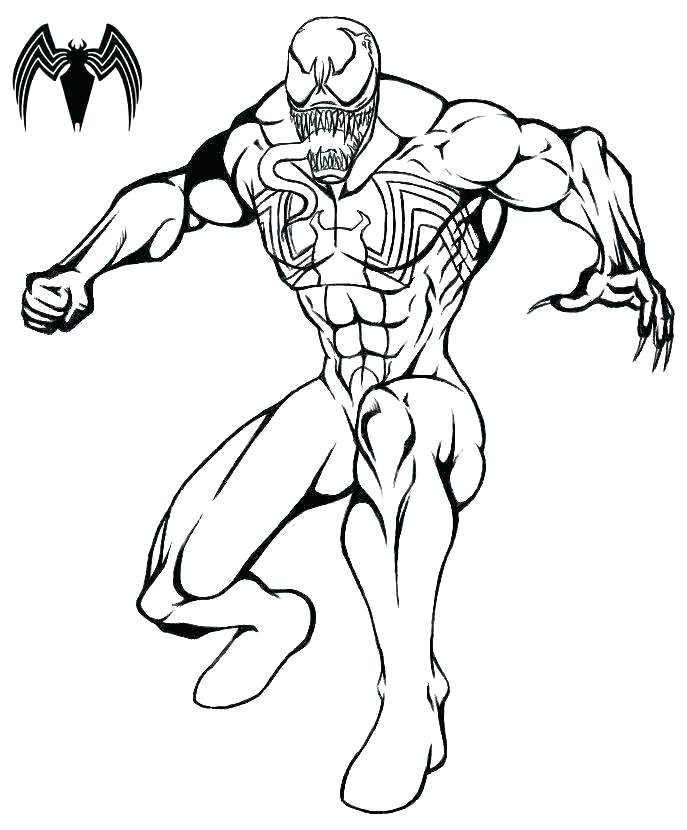 687x830 Carnage Coloring Pages Carnage Coloring Pages Spider Man Venom