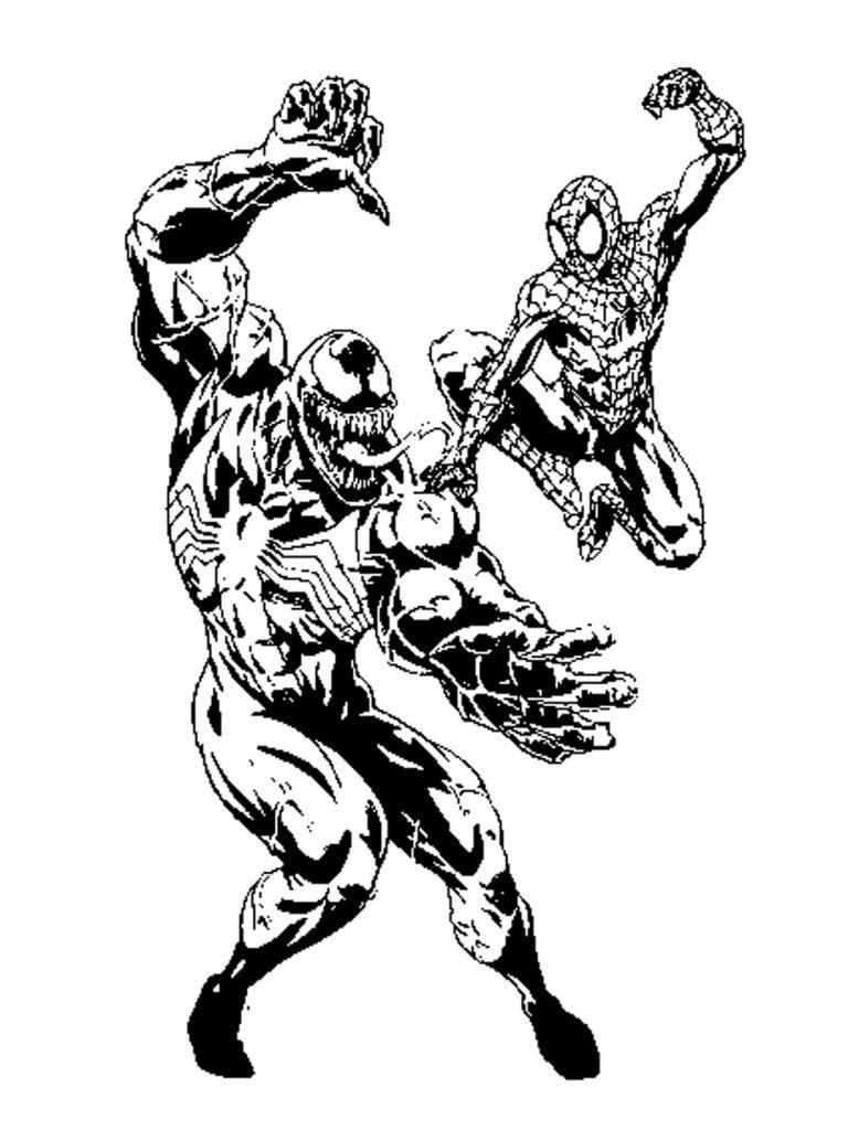 768x1024 Unique Wolverine Vs Venom Coloring Pages