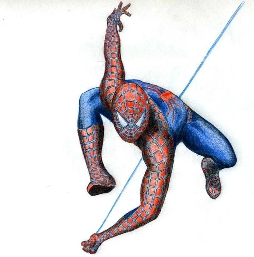 813x824 Easy Spiderman Drawings Pencil Drawings Of Sketch Spiderman Easy