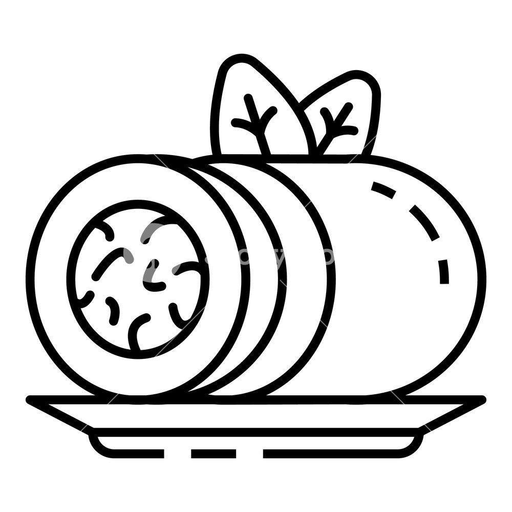 1000x1000 spinach roll icon outline spinach roll vector icon for web design