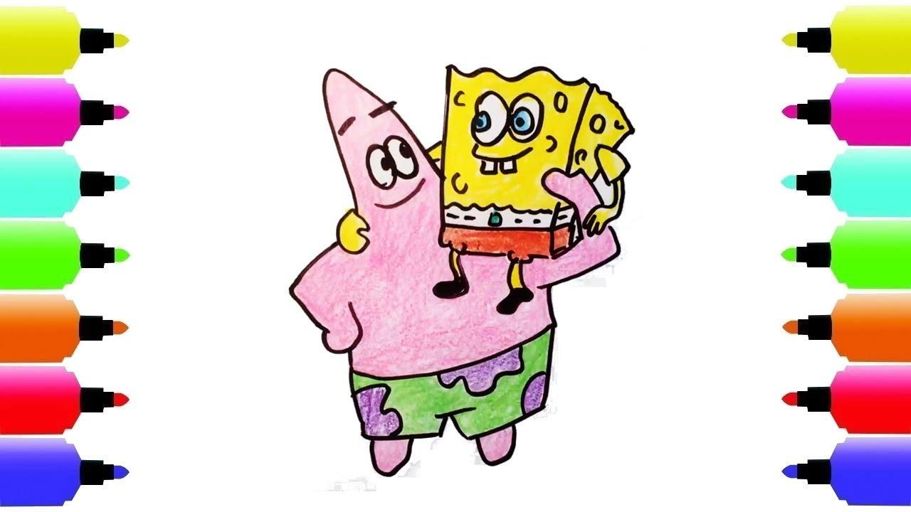 1280x720 How To Draw Spongebob Squarepants, Patrick Star