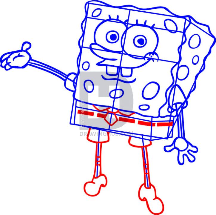 724x720 How To Draw Spongebob Squarepants, Step