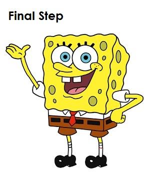 300x388 How To Draw Spongebob Squarepants