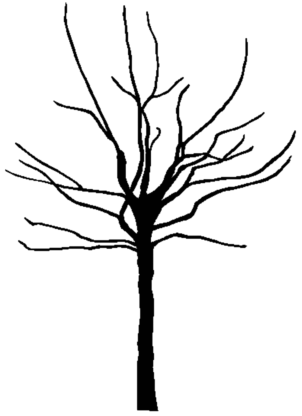 1024x1411 spooky tree clipart coloring pages clipartfest spooky tree