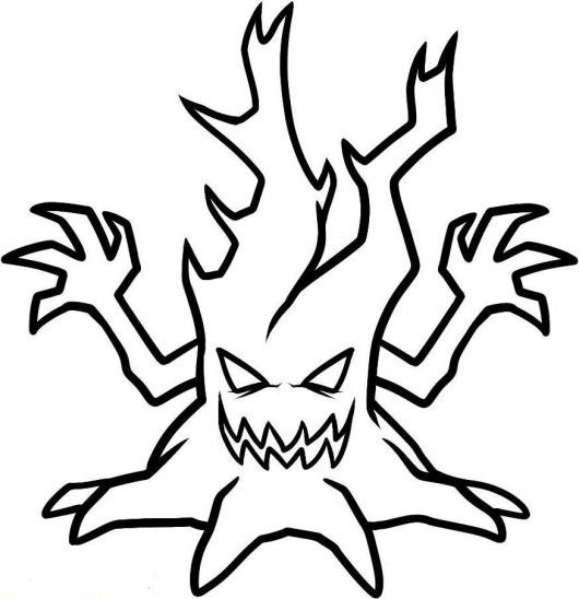 530x548 spooky tree hard png coloring pages free spooky tree hard