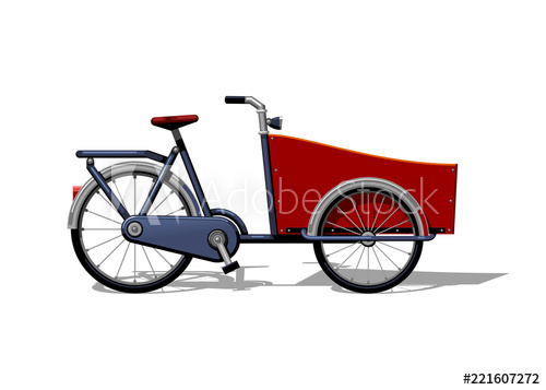 500x357 urban family cargo bike flat vector urban cargo bicycle, leasure
