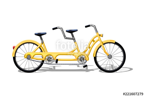 500x334 urban family tandem bike flat vector urban bicycle, leasure