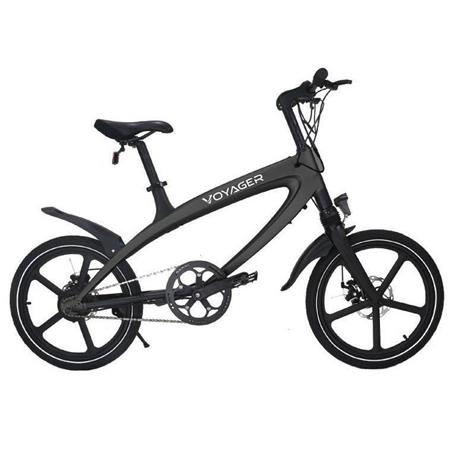 450x450 Voyager Flybrid Sport Pedal Assist Electric Bike, Black Bike Blk