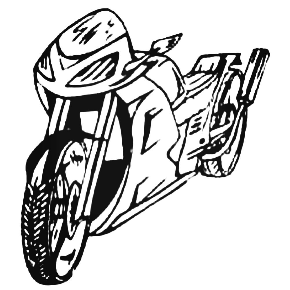 1000x1000 Atv Sportbike Style Decal Sticker