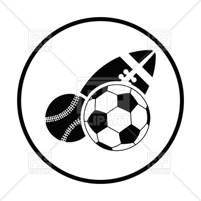 400x400 sport balls icon vector image of sport and leisure angelp