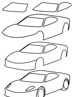 Sports Car Drawing Easy