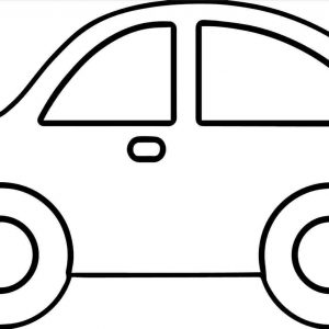 Sports Car Drawing Outline