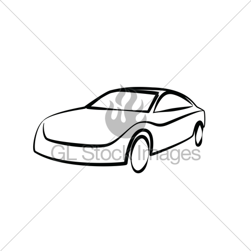500x500 sports car outlines modern car illustration car vector gl