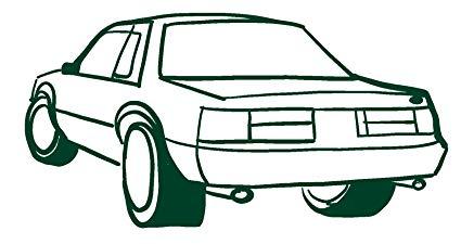 425x225 Hbarsci Sports Car Vinyl Decal