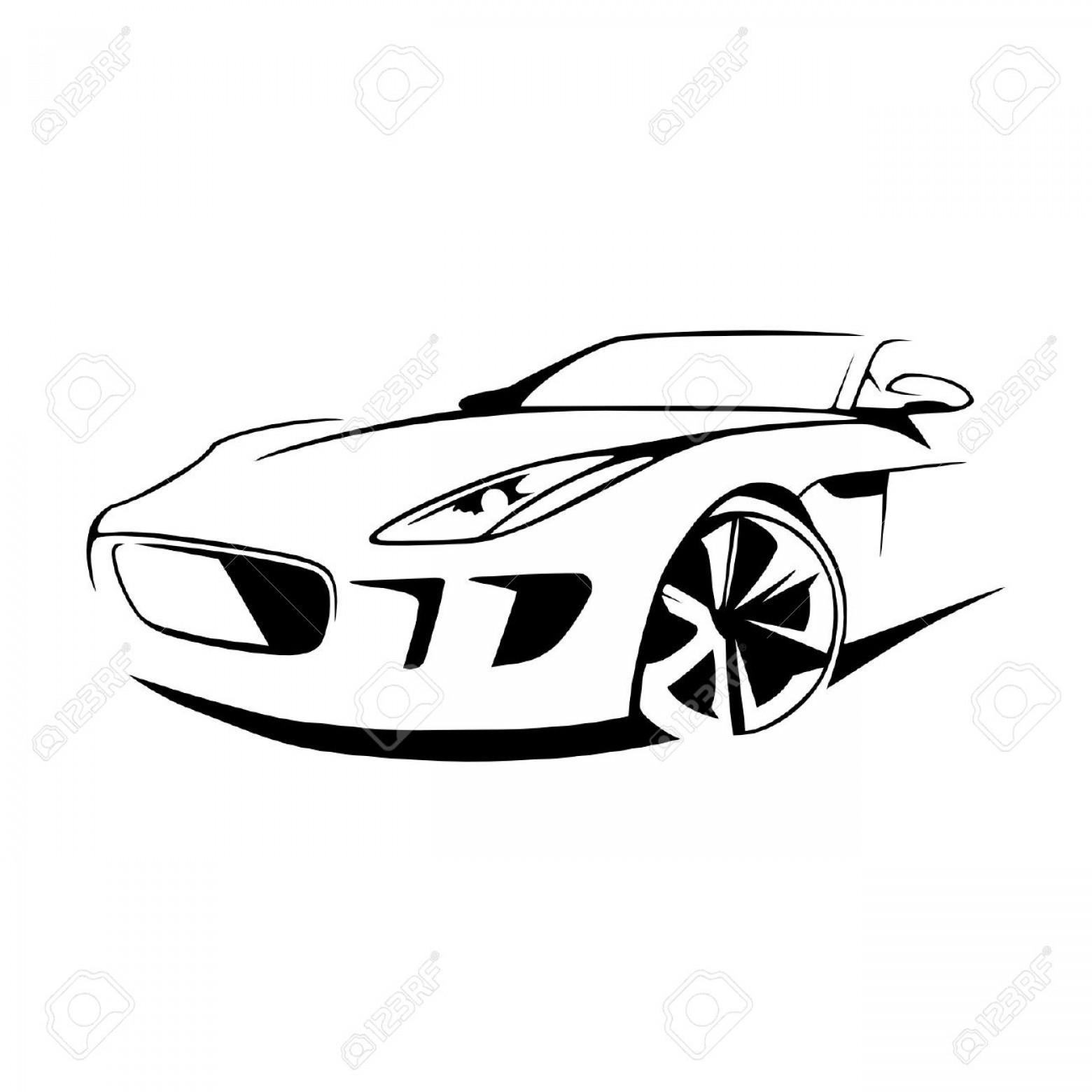 1560x1560 Unique Sports Car Silhouette Vector Library Free Vector Art