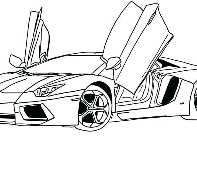 678x600 Car Sketches For Coloring