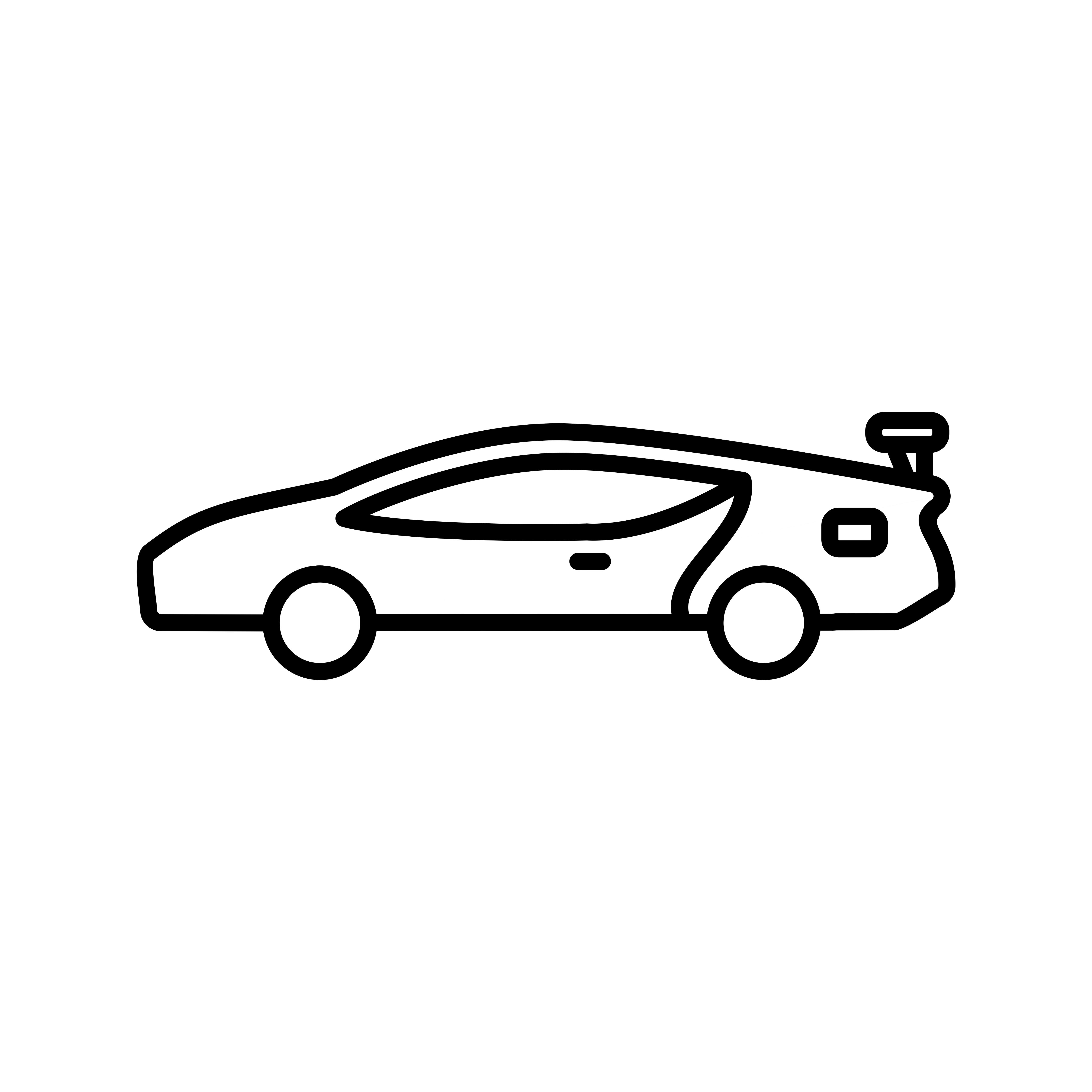 5120x5120 Sports Car Line Black Icon