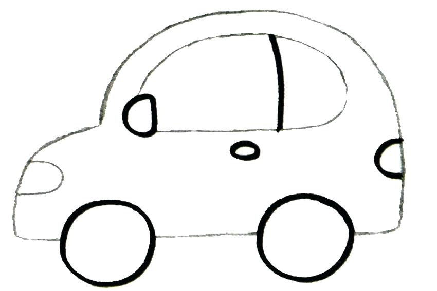 850x567 Car Drawing Simple Step Sketch Sports Car Simple Drawing