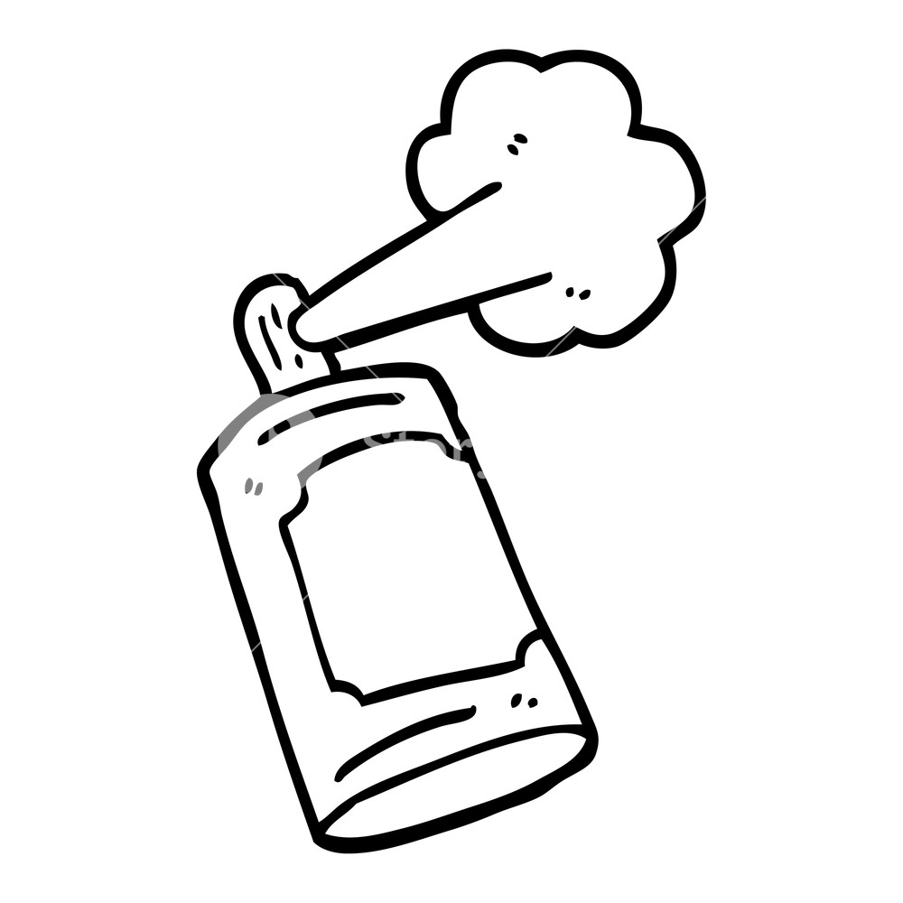 Spray Paint Can Outline Royalty Free Cliparts, Vectors, And Stock  Illustration. Image 25640119.