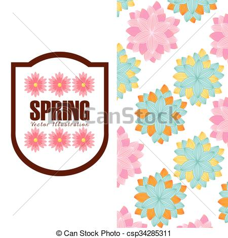 450x470 spring season design spring season design, vector illustration