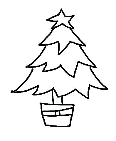 395x480 line drawing christmas tree tree line drawing christmas tree line