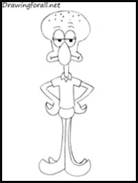 Squidward Drawing   Free download on ClipArtMag