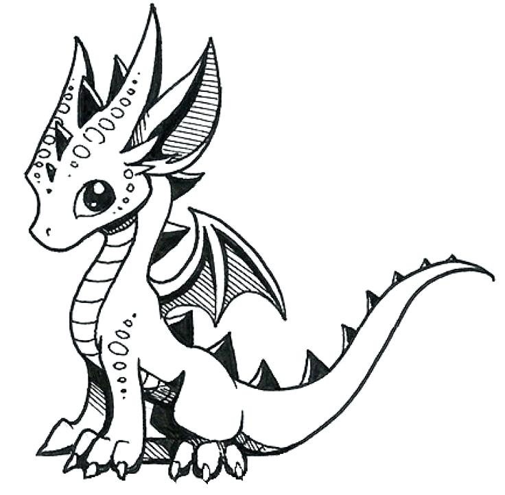 736x722 Drawn Dragons Evil Dragon Drawing Easy Drawing Dragons Step Step