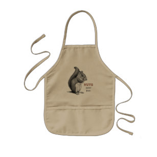 307x307 Squirrel Drawing Aprons Zazzle