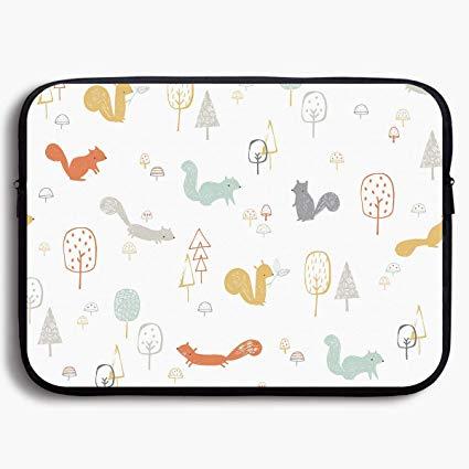 425x425 Laptop Sleeve Bag Cute Cartoon Squirrel Drawing