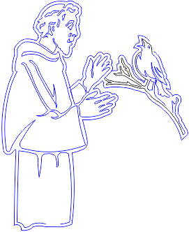 St Francis Of Assisi Drawing