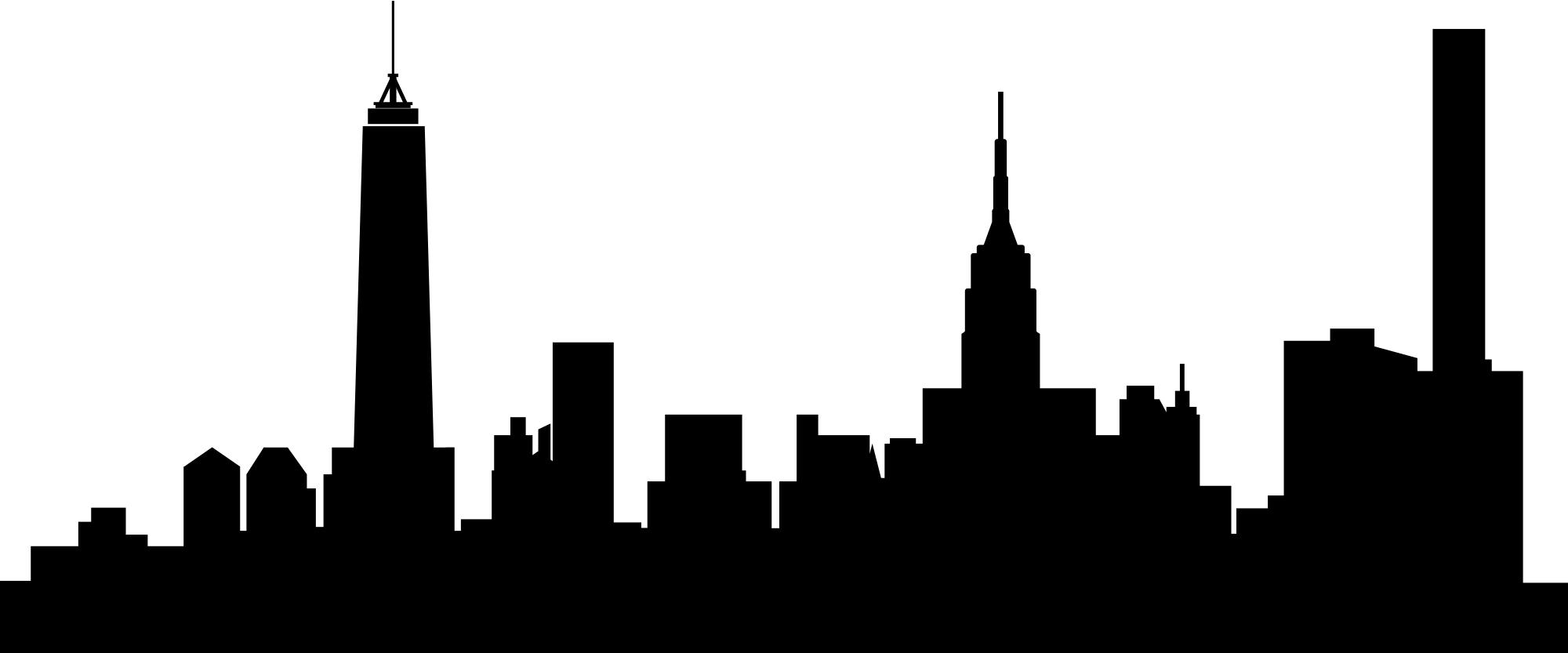 2000x833 Collection Of Free Skyline Vector Manhattan Download On Ui Ex
