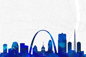300x200 Saint Louis Silhouette Royalty Free And Rights Managed Images For Sale