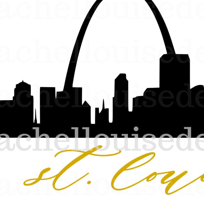 794x772 St Louis Skyline Dxf For Cricut And Etsy