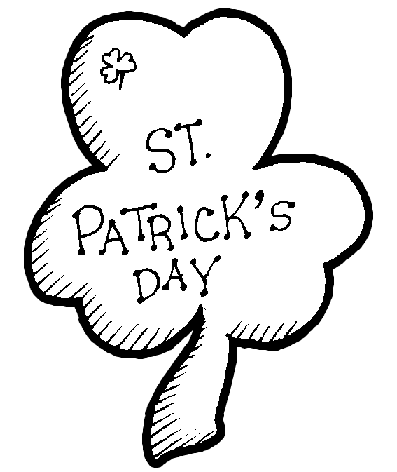 567x673 St Patrick's Day Coloring